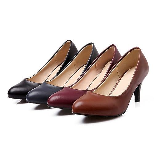Color Wx8ysr De Zapatos 36 Kakaka Marrón Eu Talla Amazon Mujer Tacón  Cxt6OqOTwn fdd9d41d604f