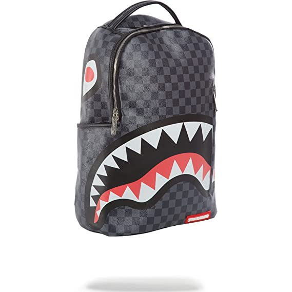 Sprayground Sharks In Paris (Grey Checkered) Backpack  Amazon.co.uk   Clothing 55d4838eaca00