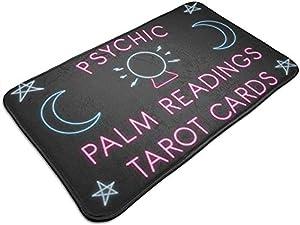 Findguage Doormat 15.7×23.7 Psychic Palm Readings Tarot Cards Entrance Mat Floor Mat Rug Doormat Indoor/Bathroom Rubber Non Slip