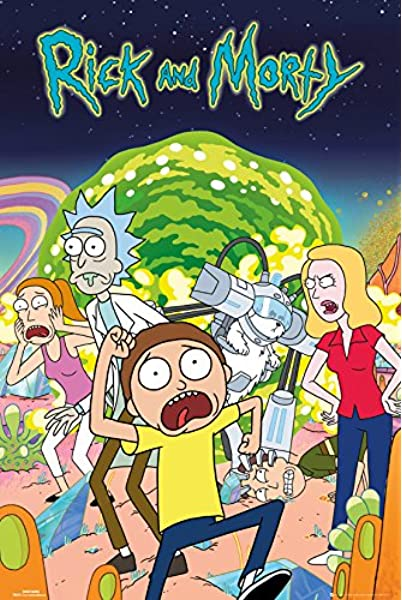 Grupo Erik Editores Poster con diseño Rick and Morty: Amazon.es ...