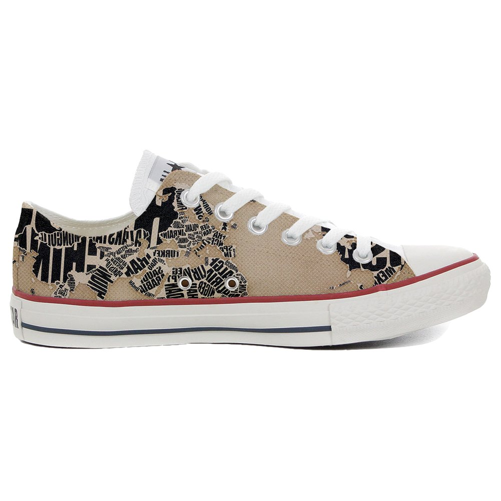 Converse Women's All Star (Shoes Customized) Hand Printed Italian Style B015D06R76 Globe Parent B015D06R76 Style 211a15