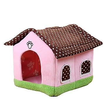 Yzibei Cómodo Suministros para Mascotas Casa para Perros Cute Pink Autumn Winter Warm Cat Litter. (tamaño : L): Amazon.es: Hogar
