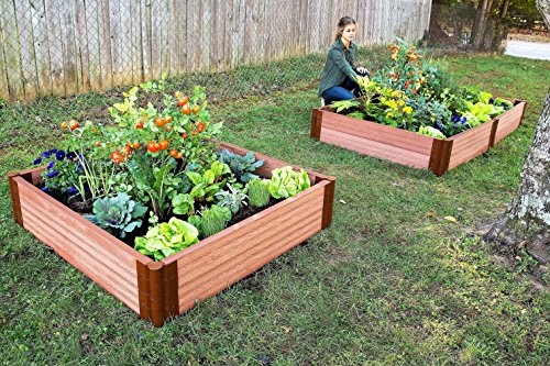 Frame It All Composite Raised Garden Bed Kit, 4' by 4' by 11'' by Frame It All (Image #3)