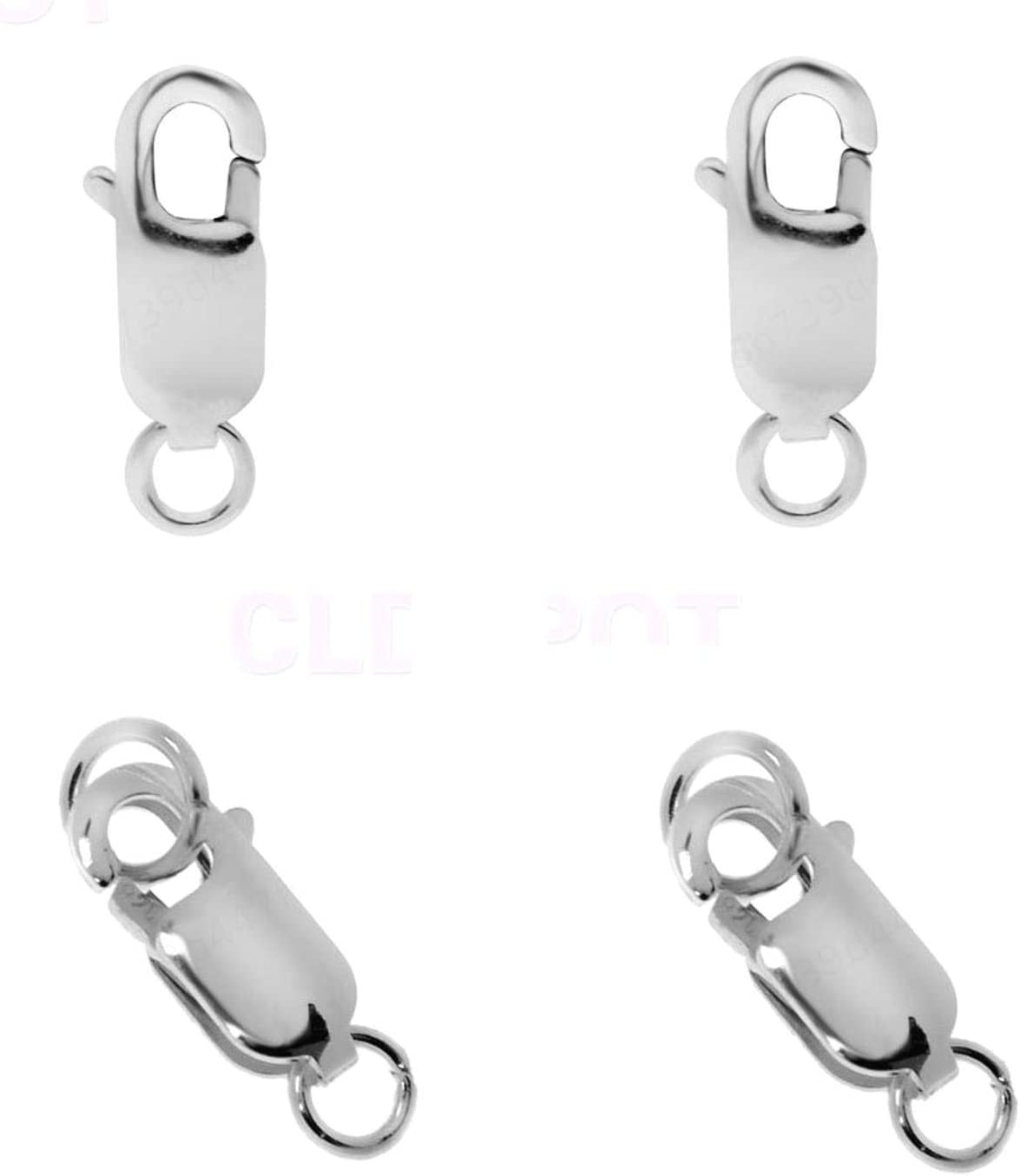 1PC 925 Sterling Silver Lobster Clasp Clip Double Circle Bijoux Fermoirs