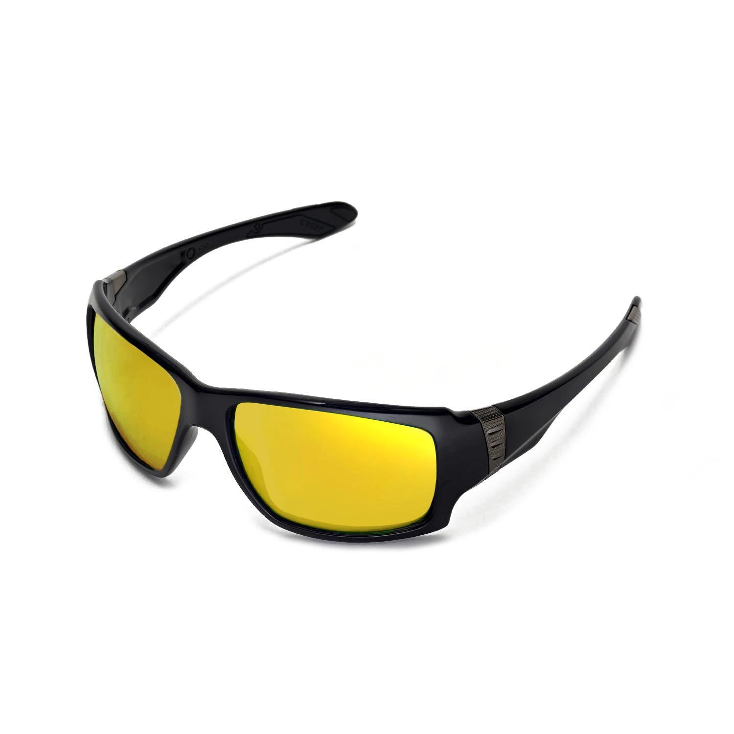 d0b53668e8a Amazon.com  Walleva Replacement Lenses for Oakley Big Taco Sunglasses - 13  Options Available (24K Gold Mirror Coated - Polarized)  Sports   Outdoors