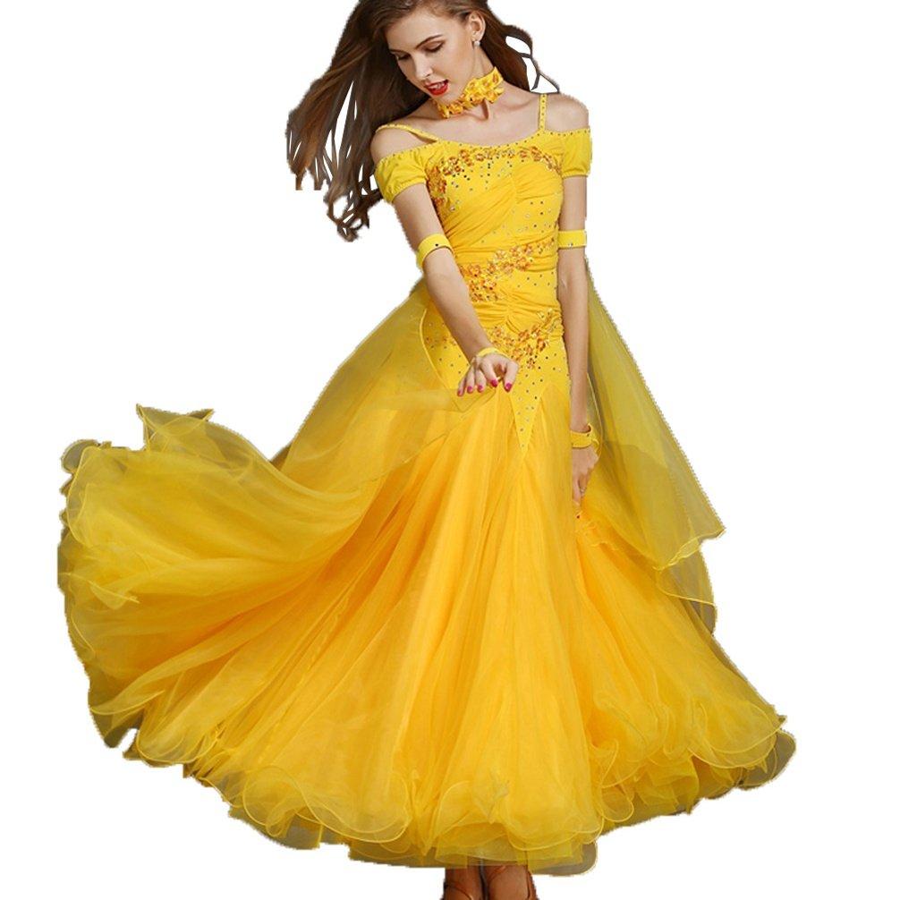 Rongg Walzer Tanzwettbewerb Kleider für Frauen Kurze Ärmel Ärmel Ärmel Große Schaukel Gesellschaftstanz Kostüm Moderne Tanzabnutzung B07CHJRDZ6 Bekleidung Zu verkaufen 630c6f