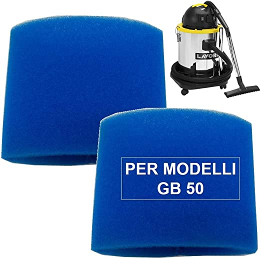 Kit de filtro de esponja 2 piezas para aspiradoras Lavor GB 50 x ...