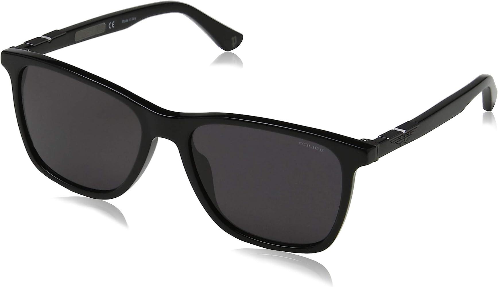 Police Origins 1 Gafas de Sol, Negro (Shiny Black/Grey), 56.0 para Hombre