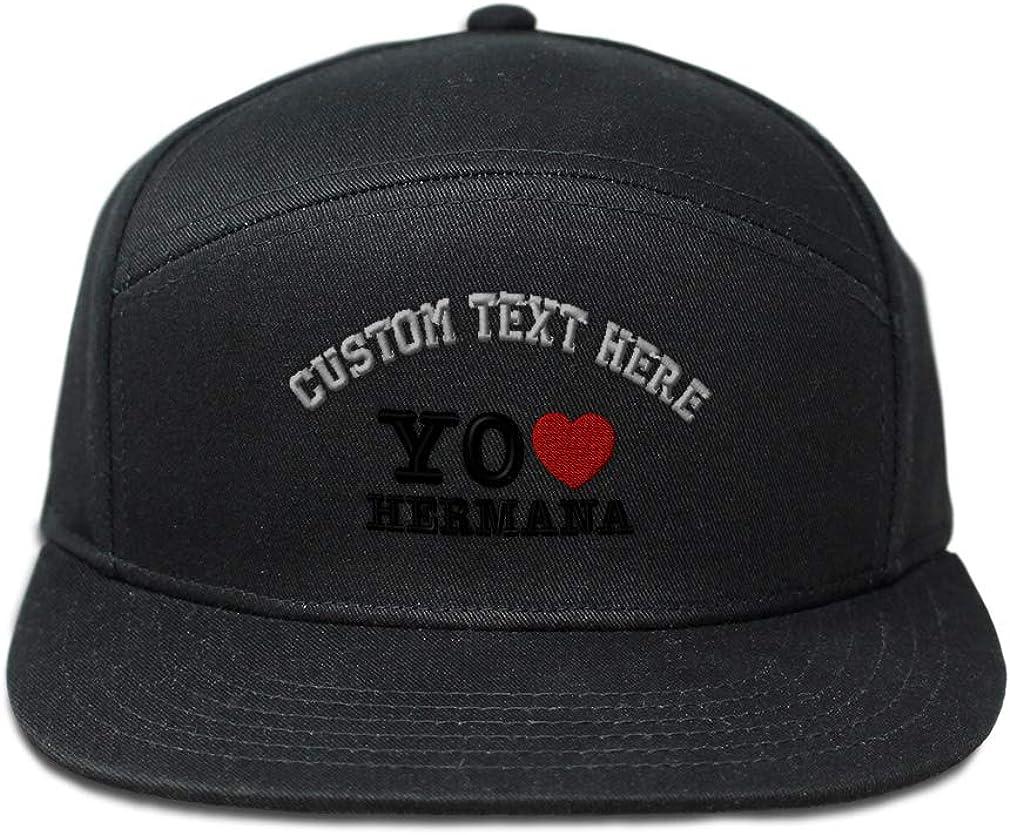 Custom Snapback Hats for Men /& Women Yo Amo a Mi Hermana Embroidery Cotton