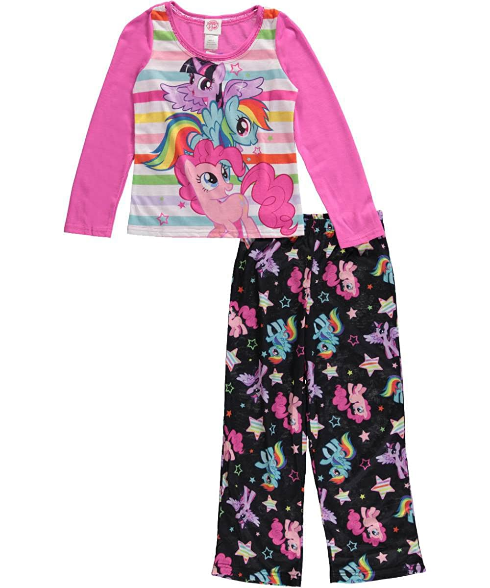 My Little Pony Little Girls' Pony Magic - Long Sleeves 2-Piece Pajamas - pink/multi, 4