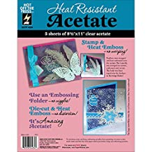 Hot Off The Press Heat Resistant Acetate, 8.5 by 11-Inch, 5-Pack