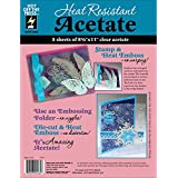 Hot Off The Press HTP4234 Heat Resistant Acetate, 8.5 by 11-Inch, 5-Pack