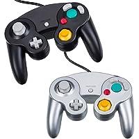 YFish Manette Classique Filaire Joypad Gamepad - Contrôleur de Jeu Compatible avec GC Gamecube Nintendo Wii Console Noir/Argent