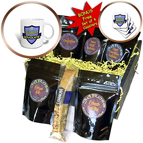 Dooni Designs – Funny Sarcastic Advocate Designs - Gamer Advocate Support Design - Coffee Gift Baskets - Coffee Gift Basket (cgb_242632_1)