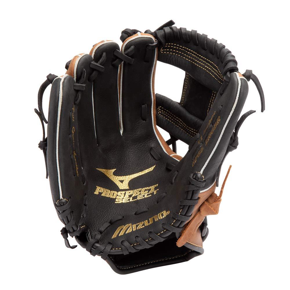 Size 12 Mizuno Prospect Select Gpsl1200 Youth Utility 312569 Baseball Mitts Black