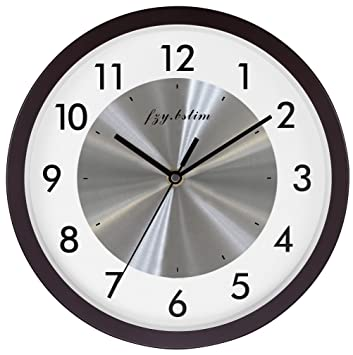 Amazon.Com : Wall Clock Battery Operated, Silent Non Ticking