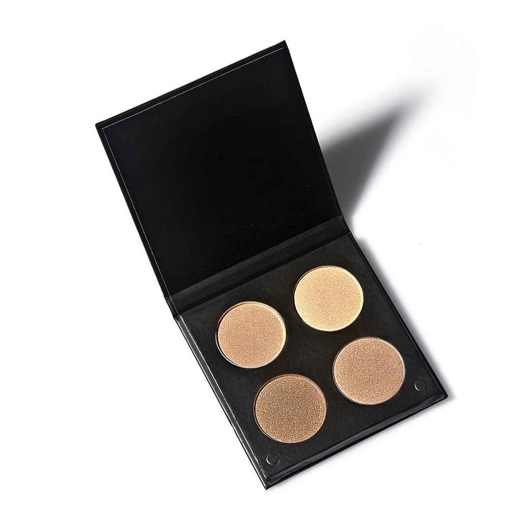 Babysbreath Face Cosmetic Contour 4 Color Shading Face Shadow Shadow Powder Highlight Paleta Alta luz de perla # 2