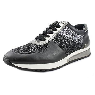 e872499fa0b94 MICHAEL Michael Kors Women's Allie Trainer Black Glitter/Vachetta ...