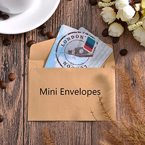 Bememo 60 Pieces Mini Envelopes Multi Color Cute Lovely Envelopes (4.6 x 3.2 Inch) for Gift Card Wedding, Birthday Party Supplies Photo #6