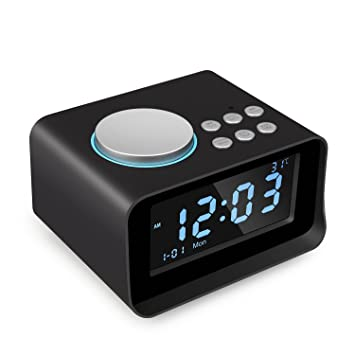 【ACTUALIZADO】 Radio despertadores Bluetooth Altavoz LUXACURY Relojes de Alarma Digitales Altavoz de Radio Bluetooth