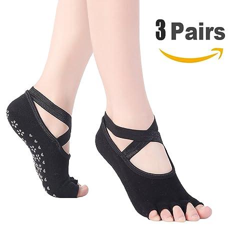 Goaeos Calcetines de Yoga Antideslizante para Mujeres, sin pies, Pilates, Barre, Ballet