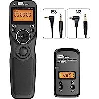 Mando a Distancia Disparador con 2 Cables de conexión E3/N3, Pixel TW-283 Disparador inalámbrico con Temporizador Mando…