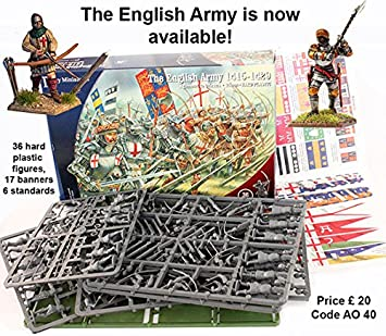 Perry Miniatures AO40 English Army 1415-29 Agincourt to Orleans 28mm 1:56  Hard Plastic Figures x 36