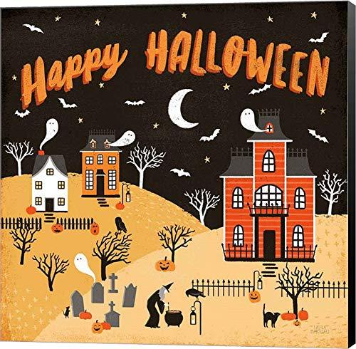 Spooky Village IV Happy Halloween by Laura Marshall