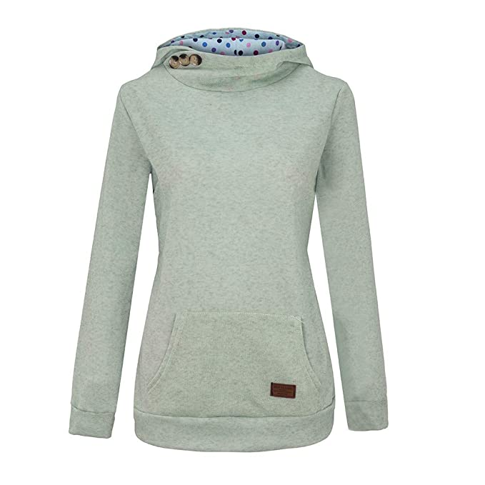the latest c2b03 95bcc TOPKEAL Hoodie Pullover Damen Herbst Winter Kapuzenpullover Reine  Farbtasche Sweatshirt Winterpullover Lässige Jacke Mantel Tops Mode 2018
