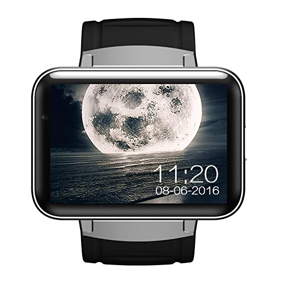 DM98 Bluetooth Smart Watch 2.2 inch Android OS 3G Smartwatch Phone MTK6572 Dual Core 1.2GHz 512MB RAM 4GB ROM Camera WCDMA GPS (silver)