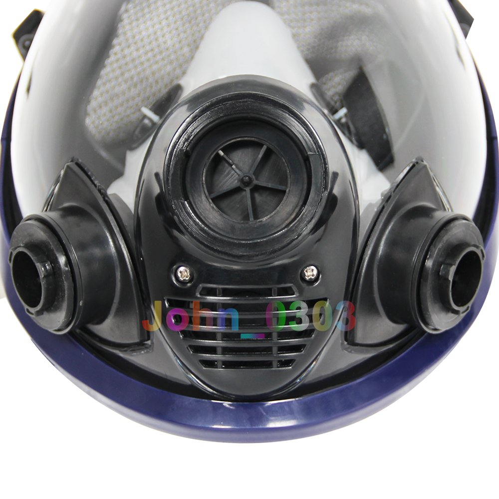 Complete Suit Trudsafe 6800 Painting Spraying Full Face Gas Chemical Mask Respirator, Dust Mask, 2 Kinds of Connectors, Good Tightness, Filters Included by Trudsafe (Image #5)