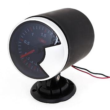 Amazon.es: Sourcingmap para Coche Turbo 6cm Dia Montaje Manómetro de Presión -1 Bar A 2 Bar