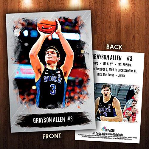 Grayson Allen 2016-17 Basketball Sports Card NEW! Duke Blue Devils SOP ACEO