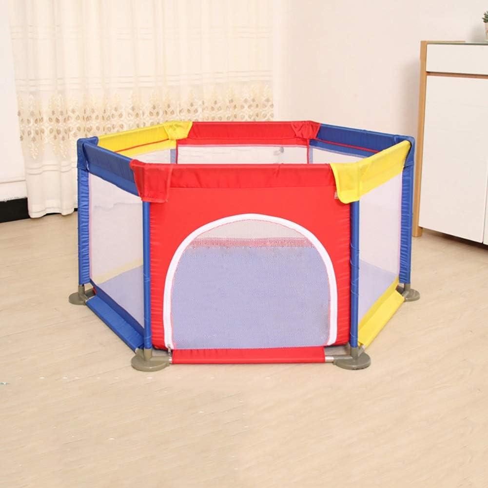 Nersury Activity Center Spielen Sie auf dem Go Play Yard SPIELPLATZ Hexagon Baby Playpen Anti-Kollisions-Kleinkind-Playard mit T/ür 140 /× 66,5 cm