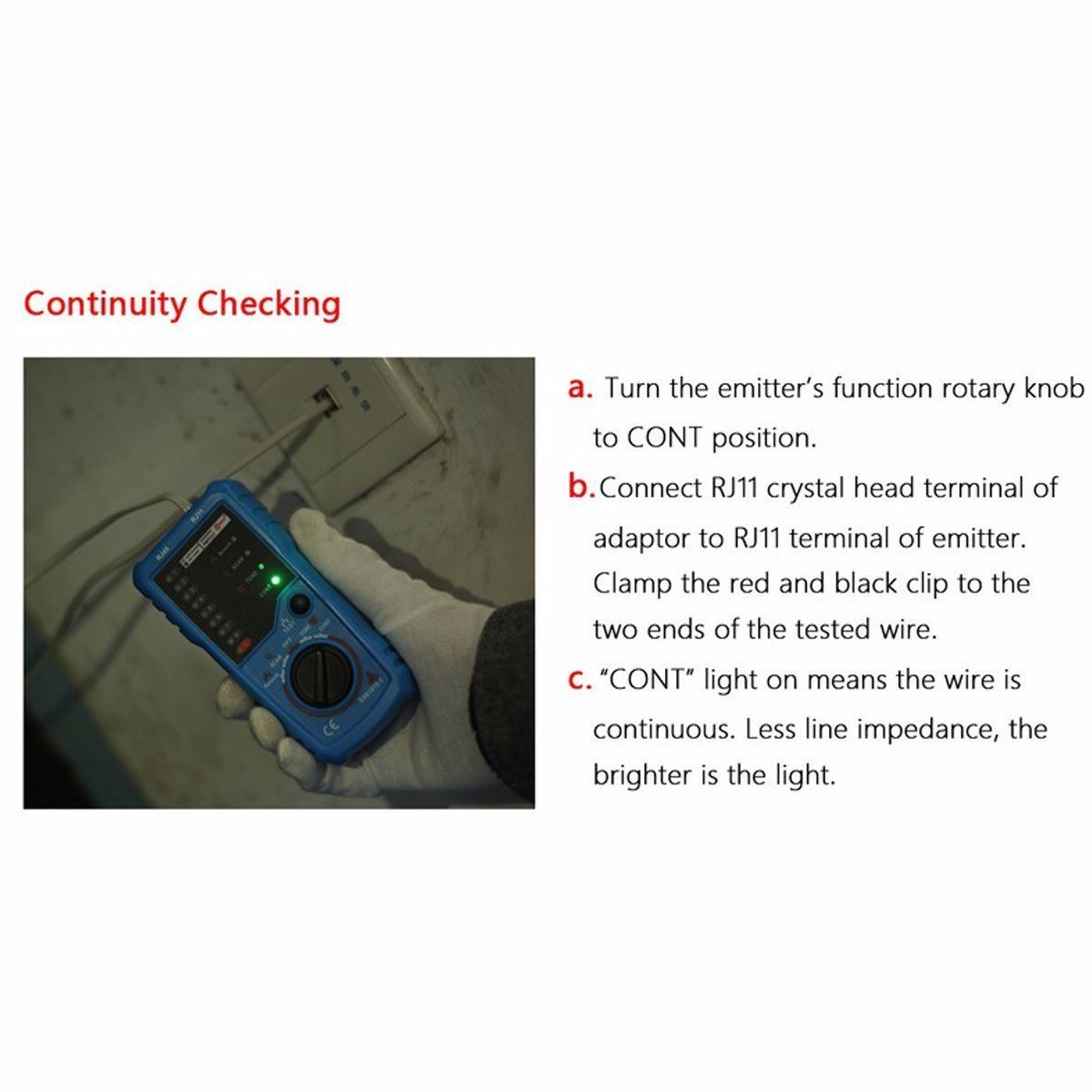 Wire Tracker, RJ11 RJ45 Cable Tester Line Finder Multifunction Wire ...