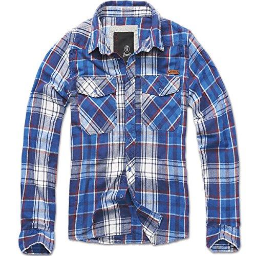 Brandit Mens Check Shirt Navy