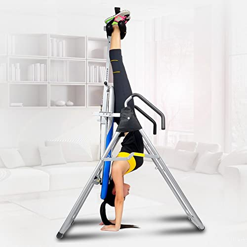 ZENOVA Inversion Table Back Support,Back Therapy Inversion Equipment with Height Adjustment System, Home Gym Gravity Table for Pain Relief