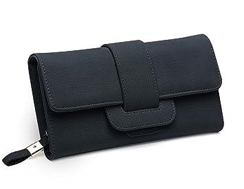 6915802f097d0 VADOOLL Geldbörse Damen Portemonnaie Lang Portmonee Elegant Clutch  Handtasche Groß Geldbeutel PU Leder Geldtasche mit Reißverschluss