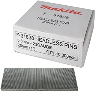 Makita F-31838 25mm 23g Headless Pins (Box of 10 000), Silver