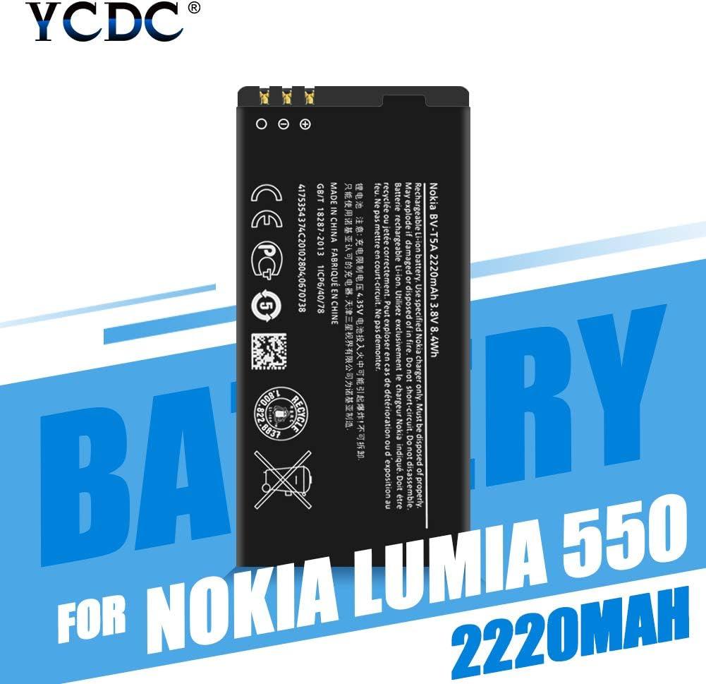 YCDC Genuine BL-5CT Battery for Nokia Lumia 738 735 730 550 Superman RM1040 RM1038,BL5CT BL 5CT BL-5CT Battery for Nokia Microsoft Lumia 550 730 735 738 2220MAH