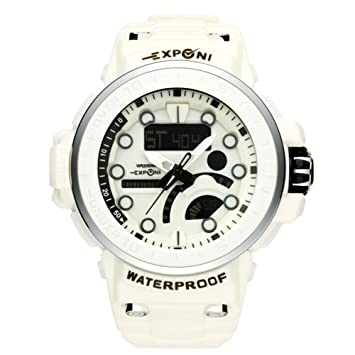 Hombres Electrónica Luces Digitales Durable LED Reloj Machos Muñeca Cool Fashion Military Design Relojes grandes Analógico