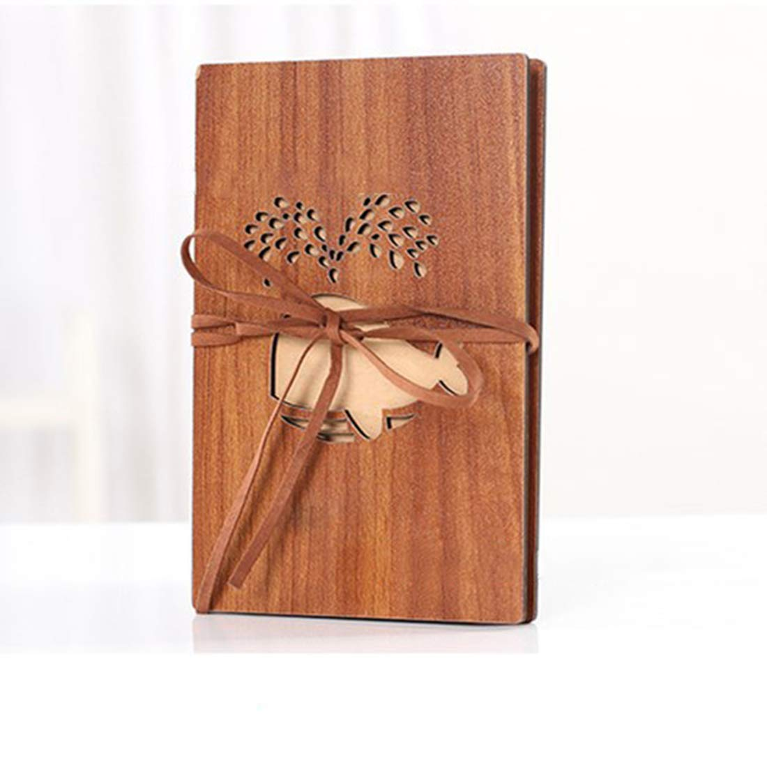 Bear gmlmxs Folding Photo Album Wooden DIY Souvenir Album Manual ...