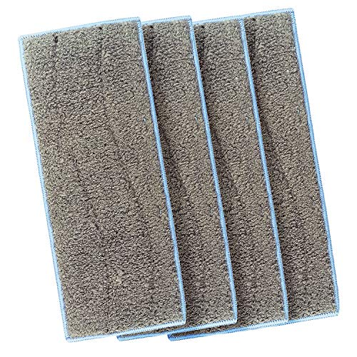 LICORNE Washable Wet Mopping Pads Compatible Braava Jet M Series, Reusable Wet Pads for Braava Jet M6 Robot Mop (Pack of 4) (4)