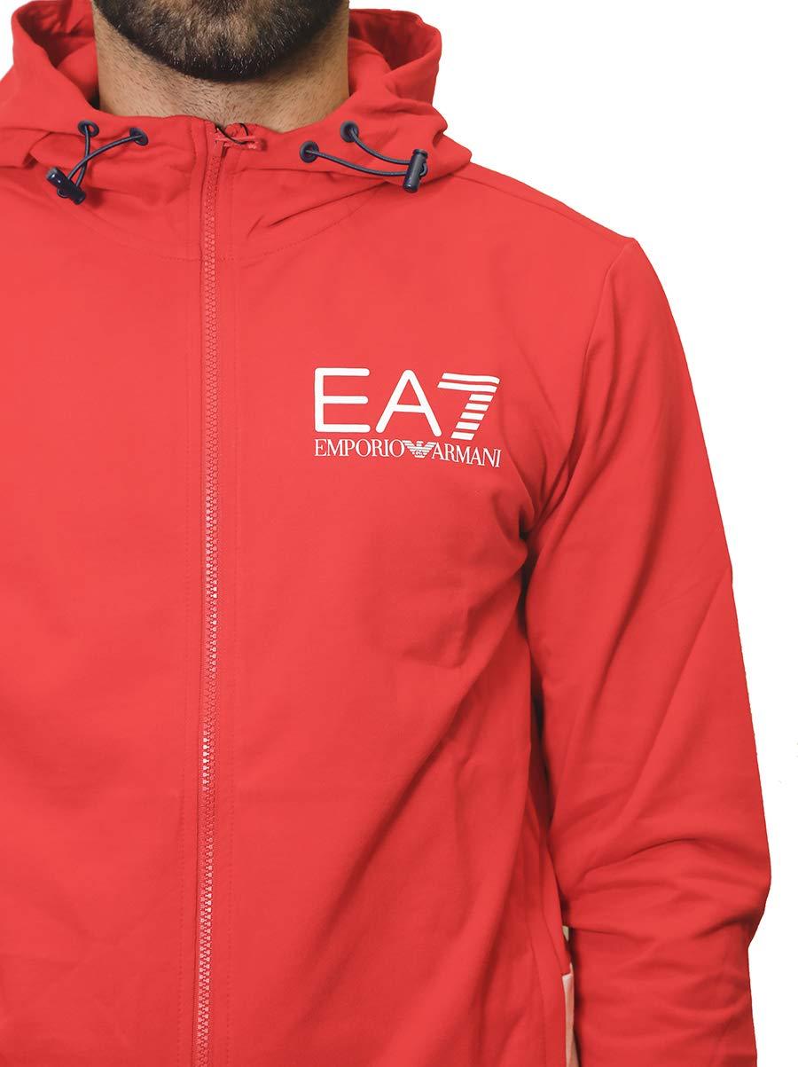 170eb2bb1b EA7 Tuta Sportiva Uomo Emporio Armani 7 Colori Grigio/Nero Rosso/Blu ...