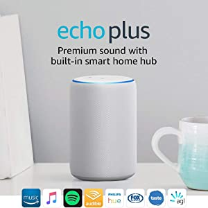 Echo Plus (2nd gen) – Premium sound with a built-in smart home hub - Sandstone Fabric
