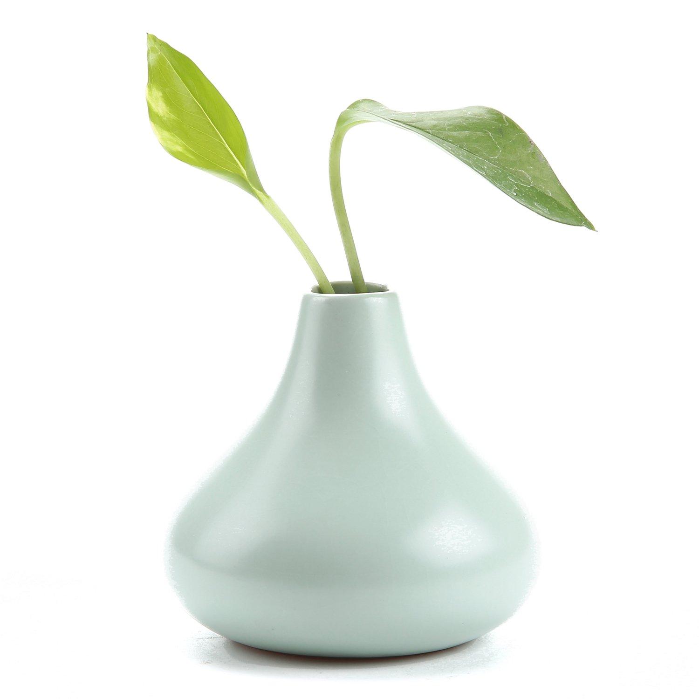 Rachel's 7.5CM Ruyao Vaso in Ceramica Vase Decorazione Domestica Regalo Ideale per la Cerimonia Nuziale Vaso da Piante Idroponiche Vasi di Fiori Forma di Goccia Alto Pacchetto di 1 T4U