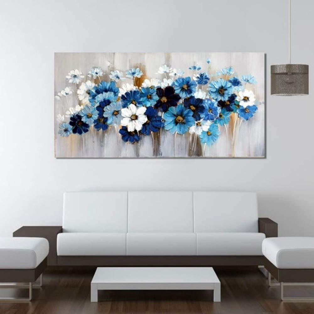 OME&MEI Pintura De Flores Pintada A Mano Mural Moderna Decorativo Pintura Decorativa Moderna Mural Moderna, 30X50Cm f3a23d