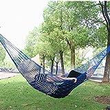 Bold Portable Mesh Simple Comfortable Nylon Hammock Outdoor Recreation Hanging Bed^Blue