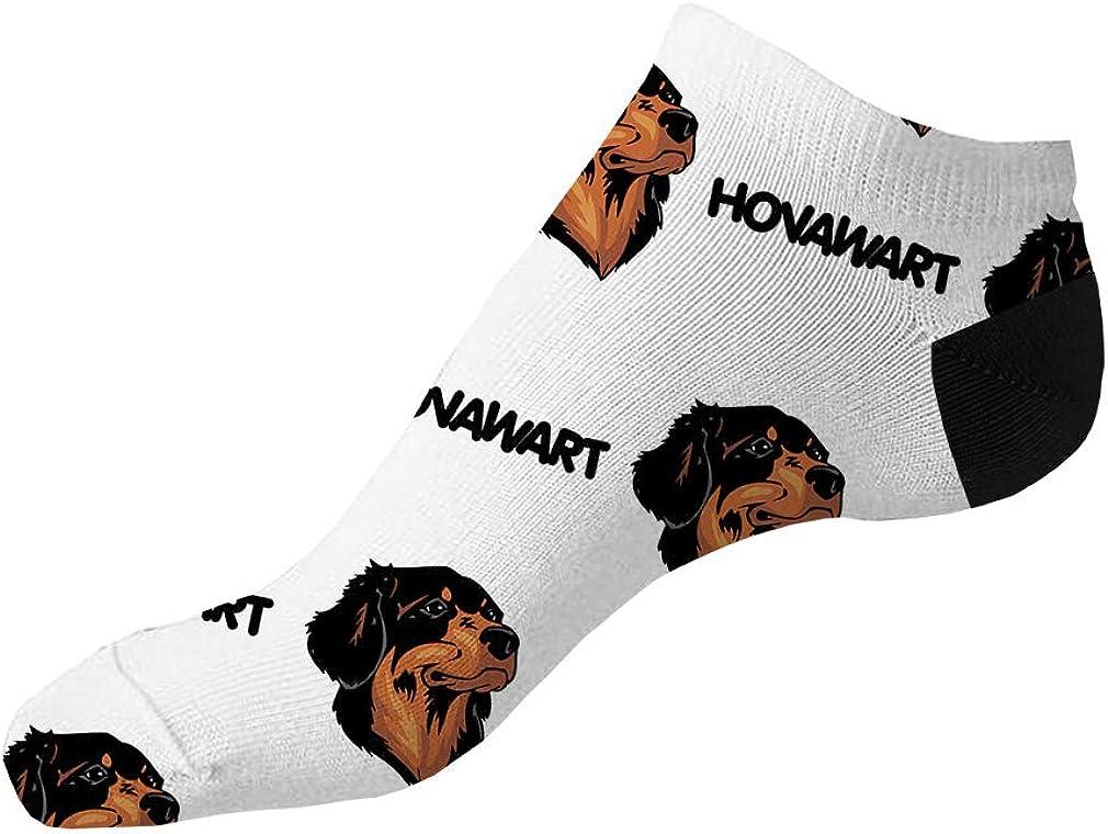 Hovawart Dog Breed Pattern #1 Men-Women Adult Ankle Socks Crazy Novelty Socks