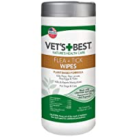 Vet's Best Flea and Tick Wipes for Dogs and Cats | Targeted Flea & Tick Application...